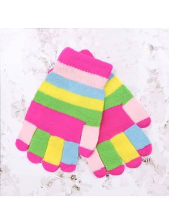 """Детские перчатки """"Inch"""" малиновые с розовым"""