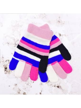 """Детские перчатки """"Inch"""" розовые с молочным"""