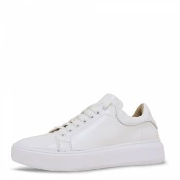 """Кожаные кроссовки """"Simple"""" белые"""