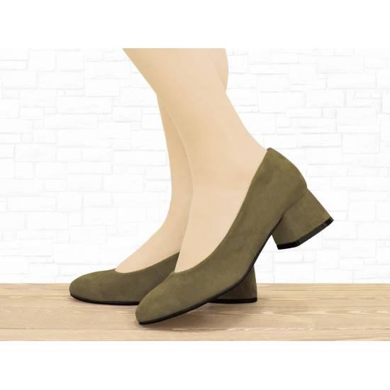 """Замшевые туфли """"4uR"""" оливка"""