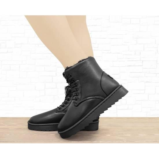 """Зимние ботинки """"UGG-L"""" черные"""